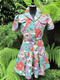 1940's Tropical print cotton vintage playsuit **SOLD**